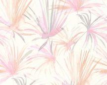 As-Creation Colibri 36624-1 natur trópusi pálmalevelek fehér rózsaszín szürke barack lila tapéta