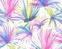 As-Creation Colibri 36624-3 natur trópusi pálmalevelek fehér szines  tapéta