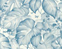 As-Creation Colibri 36625-1 natur trópusi dzsungel majmok fehér kék tapéta