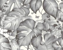 As-Creation Colibri 36625-2  natur trópusi dzsungel majmok fehér szürke fekete tapéta