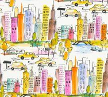 As-Creation  Boys & Girls 6, 36753-1 Gyerekszobai grafikus város házak fehér szines tapéta