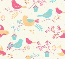 As-Creation  Boys & Girls 6, 36756-2  Gyerekszobai grafikus madárkák krémfehér szines tapéta