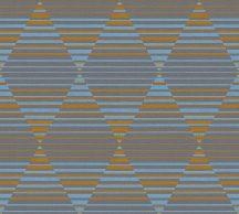 As-Creation Linen Style 36757-3 Geometrikus grafikus különleges rombuszminta 3D szürke kék narancs tapéta