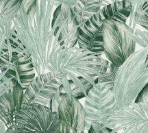 As-Creation Greenery 36820-1 Natur trópusi botanikus fehér zöld árnyalatok tapéta