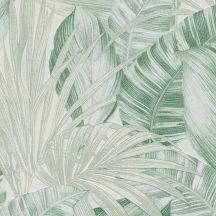 As-Creation Greenery 36820-2 Natur trópusi botanikus fehér világoszöld árnyalatok tapéta