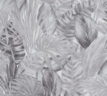 As-Creation Greenery 36820-3 Natur trópusi botanikus fehér szürke fekete tapéta