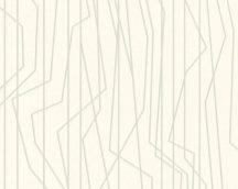 As-Creation Emotion Graphic 36878-3 Design grafikus fehér ezüst fénylő hatás tapéta