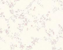 As-Creation Metropolitan Stories 36896-1 natur virágok ágak fehér rózsaszín/halvány lila enyhe fényű tapéta