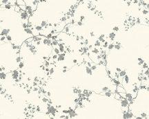As-Creation Metropolitan Stories 36896-2  natur virágok ágak fehér szürke fekete ezüst  enyhe fényű tapéta