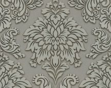 As-Creation Metropolitan Stories 36898-1 barokk díszítőminta 3D szürke szürkésbarna bézs ezüst tapéta
