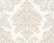 As-Creation Metropolitan Stories 36898-2 barokk díszítőminta 3D fehér szürke bézs ezüst tapéta