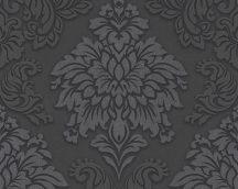 As-Creation Metropolitan Stories 36898-4  barokk díszítőminta 3D antracit fekete ezüst csillámló hatású tapéta
