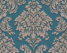 As-Creation Metropolitan Stories 36898-5  barokk díszítőminta 3D kék bézs ezüst csillámló hatású tapéta