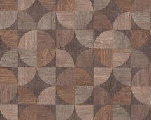 As-Creation Metropolitan Stories 36913-1 retro grafikus famintázat bézs barna szürkésbarna árnyalatok tapéta