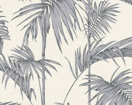 As-Creation Metropolitan Stories 36919-2  natur Vintage bambusz fehér szürke ezüst fémes hatás tapéta