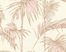 As-Creation Metropolitan Stories 36919-3  natur Vintage bambusz krémfehér rózsaszín aranybarna fémes hatás tapéta