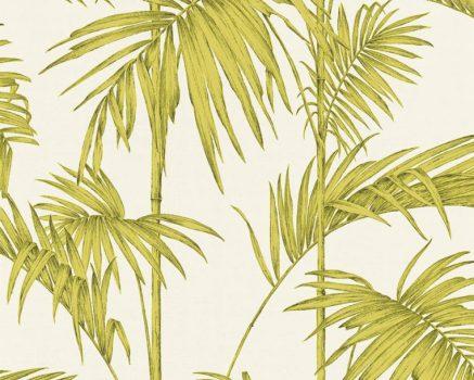 As-Creation Metropolitan Stories 36919-4  natur Vintage bambusz krémfehér zöld sárgászöld fekete  fémes hatás tapéta