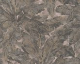 As-Creation Metropolitan Stories 36927-1 trópusi levélmintázat bézs bronz arany antracit fémes hatás tapéta