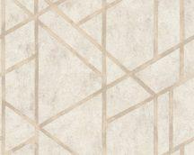 As-Creation Metropolitan Stories 36928-4  design natur beton alap grafikus mintázat krém krémszürke bézs fémes hatás tapéta