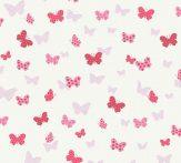 As-Creation Attractive 36933-1 Natur szines pillangók fehér rózsaszín pink piros fénylő mintarészletek tapéta