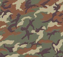 Gyerekszobai Camouflage terepminta zöld barna bézs tapéta