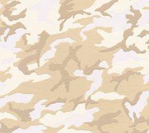 Gyerekszobai Camouflage terepminta krémfehér krém bézs barna tapéta