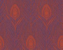 Architects Paper Absolutely Chic 36971-5  Natur pávatoll mintázat lila narancs csillogó hatás tapéta