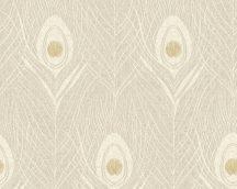 Architects Paper Absolutely Chic 36971-7  Natur pávatoll mintázat krém bézs arany csillogó hatás tapéta