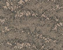 Architects Paper Absolutely Chic 36972-5  Natur organikus stilizált lombozat barna bézs fekete csillogó hatás tapéta