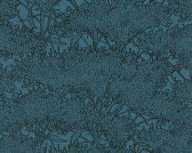 Architects Paper Absolutely Chic 36972-6  Natur organikus stilizált lombozat kék fekete csillogó hatás tapéta