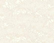 Architects Paper Absolutely Chic 36972-7  Natur organikus stilizált lombozat krémfehér krém bézs csillogó hatás tapéta