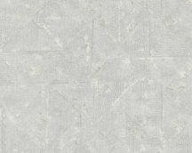 Architects Paper Absolutely Chic 36974-7  strukturált egyszínű rombuszok szürke árnyalatok szürkésfehér tapéta