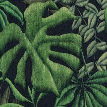 As-Creation Greenery 37033-1 Natur botanikus levélminta fekete zöld árnyalatok tapéta