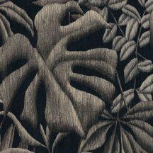 As-Creation Greenery 37033-2 Natur botanikus levélminta szürke szürkésbézs fekete tapéta