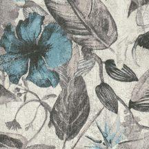 Natur dzsungel trópusi növények virágok szürkésfehér szürke kék fekete tapéta