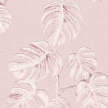 As-Creation Greenery 37281-1 Natur botanikus levélminta rózsaszín fehér tapéta