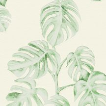 As-Creation Greenery 37281-3  Natur botanikus levélminta fehér zöld tapéta