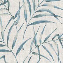 As-Creation Greenery 37335-1 Natur botanikus filigrán páfránylevelek világos szürke kék tapéta