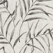 Natur botanikus filigrán páfránylevelek világos szürke szürkésbézs szürke antracit