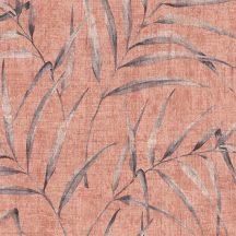 Greenery 37335-4  Natur botanikus filigrán páfránylevelek lazacpiros szürkésbarna tapéta