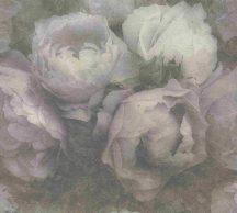 As-Creation New Walls 37392-1 ROMANTIC DREAM nagyformátumú virágzó bimbók zöld szürke orgonlila fehér tapéta