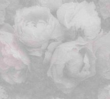 As-Creation New Walls 37392-3  ROMANTIC DREAM nagyformátumú virágzó bimbók szürke halvány orgonalila fehér tapéta