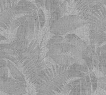 As-Creation New Walls 37396-1 COSY & RELAX Natur levelek szürke sötétszürke árnyalatok tapéta