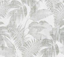 As-Creation New Walls 37396-4 COSY & RELAX Natur levelek krémszín zöld tapéta