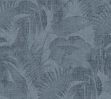 As-Creation New Walls 37396-5  COSY & RELAX Natur levelek kék szürkéskék fekete tapéta