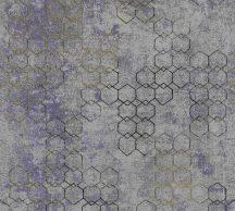 As-Creation New Walls 37424-5 URBAN GRACE Geometrikus grafikus szürkéskék arany fénylő mintarajzolat tapéta
