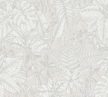 As-Creation Daniel Hechter 6, 37520-1 Natur botanikus dzsungel trópusi levelek szürke fehér tapéta