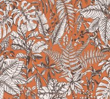 As-Creation Daniel Hechter 6, 37520-4  Natur botanikus dzsungel trópusi levelek narancs barna fehér tapéta
