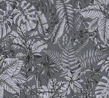 As-Creation Daniel Hechter 6, 37520-5  Natur botanikus dzsungel trópusi levelek szürke árnyalatok fekete tapéta