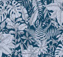 As-Creation Daniel Hechter 6, 37520-6  Natur botanikus dzsungel trópusi levelek kék szürke fehér tapéta